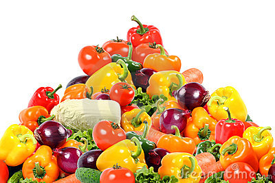 Beauty Vegetable Composition On White Royalty Free Stock Photos - Image: 8297788