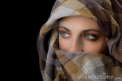 Beauty with veil