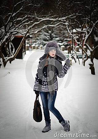 Beauty in a winter park
