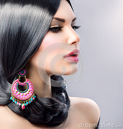 Free Beauty With Long Black Hair Stock Image - 29458441