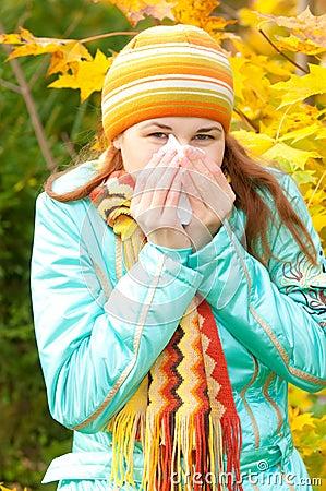 Beauty woman in autumn