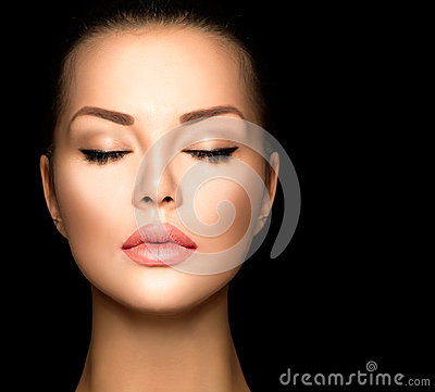 Free Beauty Woman Face Closeup Stock Photo - 47165600