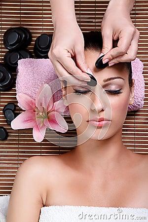 Free Beauty Woman Having Facial Treatment Stock Images - 27521314