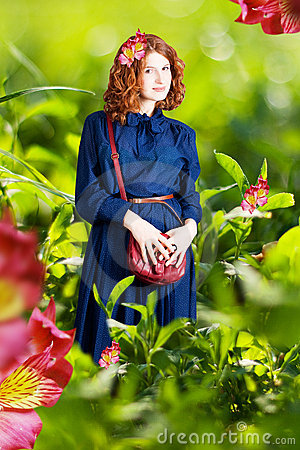 Free Beauty Woman In A Green Grass Stock Images - 19790094