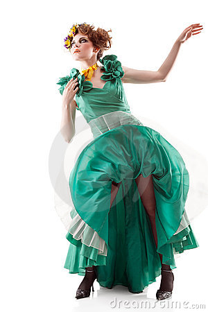 Free Beauty Woman In Old Fashioned Dress Stock Photography - 22118462