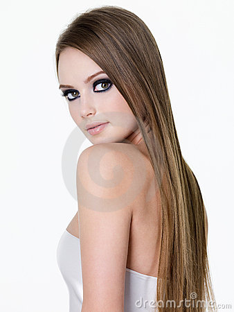 Beauty of woman with long hair