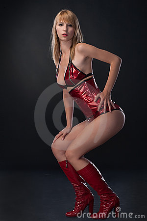 Beauty woman in sexy clothing