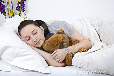 Beauty woman sleeping
