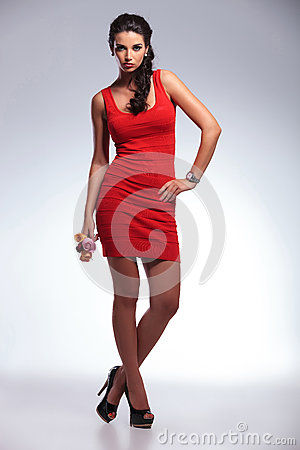 Free Beauty Woman With Hand On Hip Stock Photography - 33658202