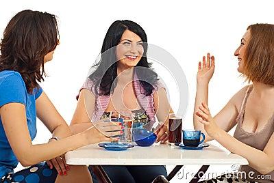 Beauty women friends meeting