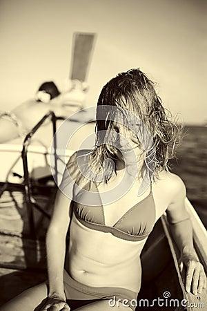 Beauty womens sailing