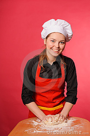 Beauty young cook