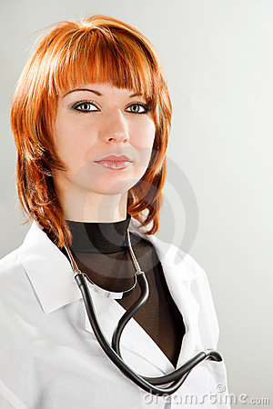 Beauty young woman doctor