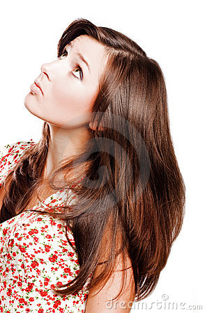 Beauty young woman with long hairs