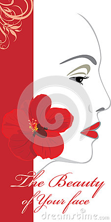 The beauty of Your face. Icon for design