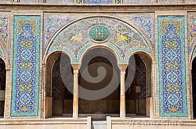 Beautyful mosaic of Golestan palace