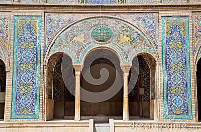 Beautyful mosaic of Golestan palace