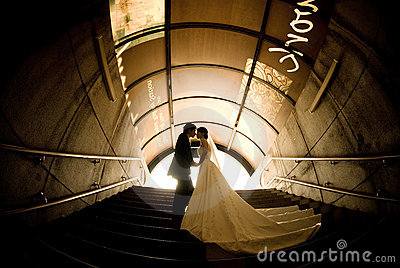 Beaux mariée et marié