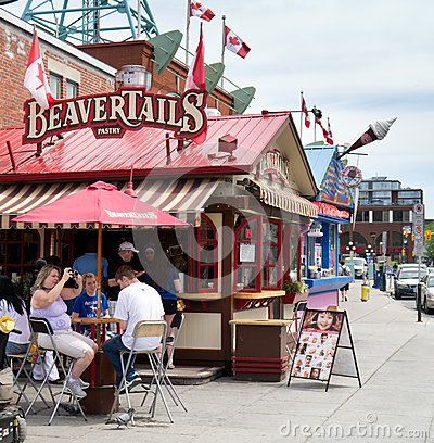 Beavertails Stand In Ottawa,ONtario,Canada Editorial Photo