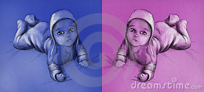 Bebé - muchacho y muchacha