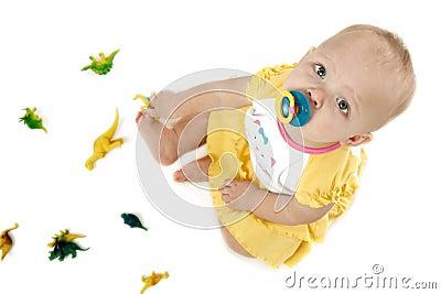 Bebê com dinossauros
