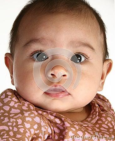 Bebê latino-americano bonito