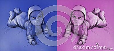 Bebê - menino e menina
