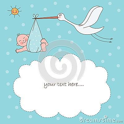 Bebé e cegonha