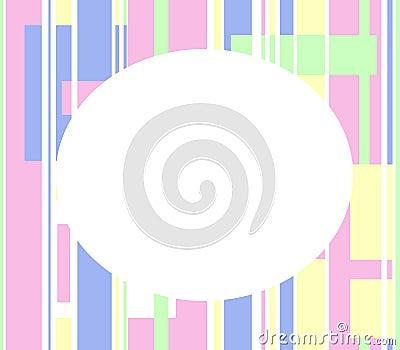 Bebé o marco en colores pastel de pascua