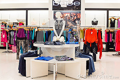 Bebe clothing section in a supermarket Siam Paragon in Bangkok, Thailand. Editorial Photography