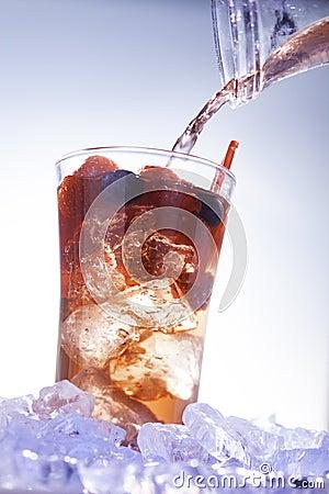 Bebida fria do verão