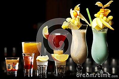 Bebidas na barra