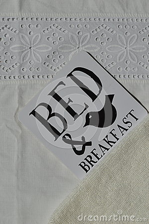 Free Bed And Breakfast Sign Stock Image - 54029751