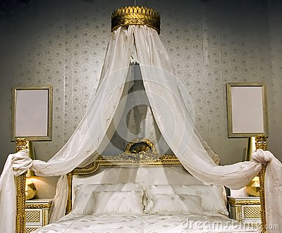 Bed with a canopy