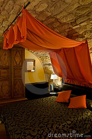 Bed with Canopy in a Bedroom.