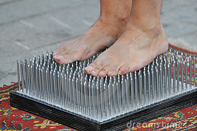 Bed Of Nails Royalty Free Stock Photo Image 8002505