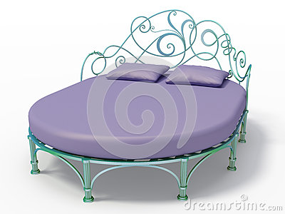 Bed of wrought iron