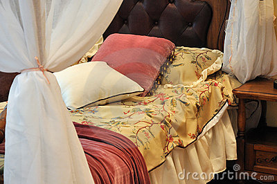 Bedding and curtain