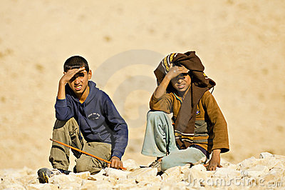 Bedouin children Editorial Stock Image