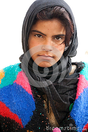 Free Bedouin Girl In Ancient City Of Palmyra - Syria Stock Photography - 58418422