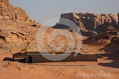 Bedouin house in Wadi Rum