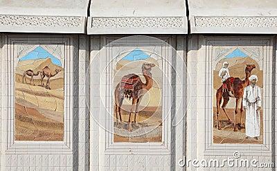 Bedouin life scenes in Doha