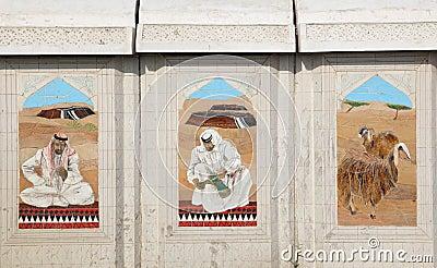 Bedouin life scenes, Doha