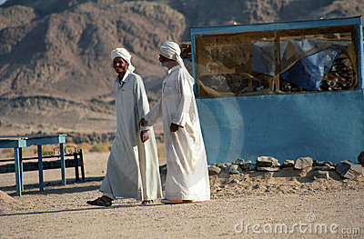 Bedouin men, Estern Desert, Egypt Editorial Photography