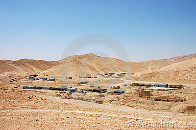 Bedouin village.
