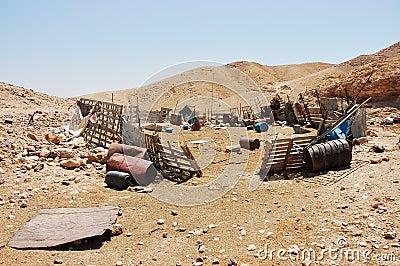 Bedouin village.