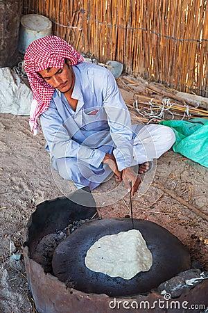 Bedouin village on desert in Egypt Editorial Stock Photo