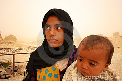 Bedouins in Syria Editorial Stock Image