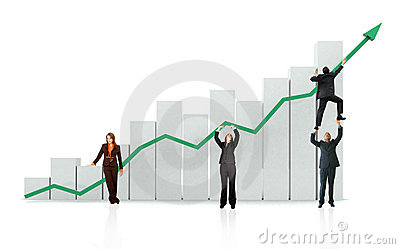 Bedrijfs de groei en succes