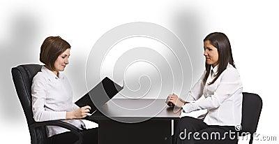 Bedrijfs gesprek